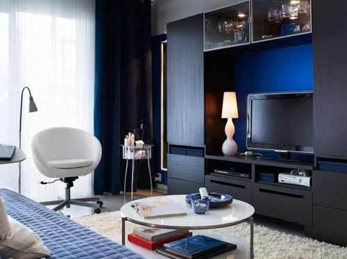 宜家电视柜设计 造就实用客厅背景墙
