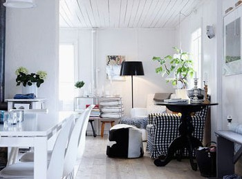 家居设计:宜家风格 异国设计师的黑白简约家