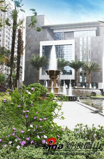 加洲国际城二期中央庭院景观现已呈现图片